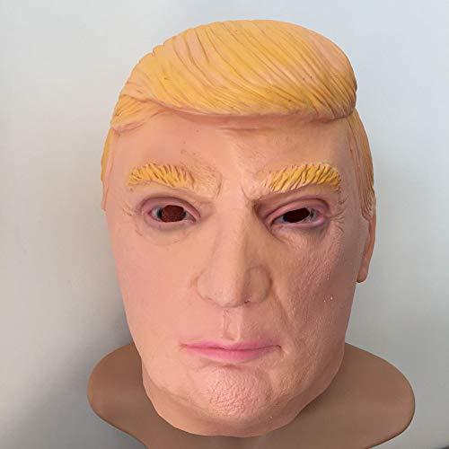 Donald Trump Maske,Latex Kopfmaske - Perfekt Für Halloween Partys Saisonale Dekoration - Kostüm - Karneval Verkleiden,Yellow-OneSize ()