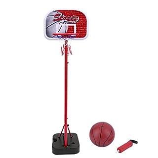 Homgrace Kinder Basketballkorb 75-160 cm Höhenverstellbar Basketballständer mit Basketball und Pumpe, Tragbare Basketball-Backboard Ständer & Hoop Set für Kinder, Bestes Geschenk für Kinder