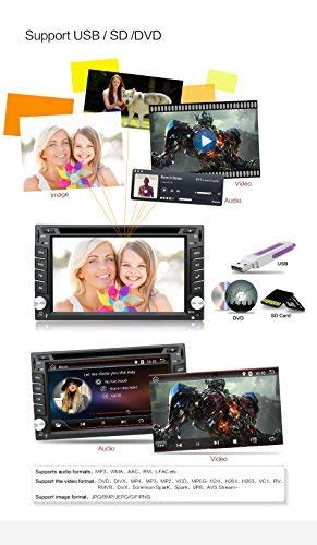 Upgrade-Version-WiFi-Modell-Android-60-Qure-Core-Doppel-DIN-Auto-DVD-Player-Stereo-GPS-Navigation-fr-Universal-Auto-mit-kostenloser-Kamera
