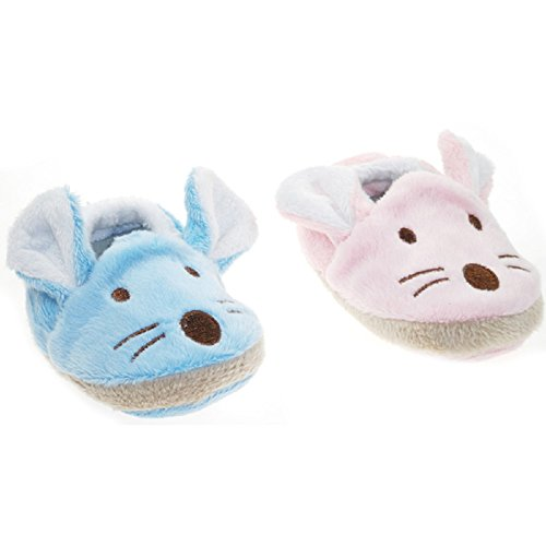 Süße kleine Mäuschenschuhe (blau) rosa