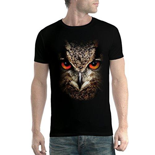 Búho Animales Pájaro Hombre Camiseta Negro L