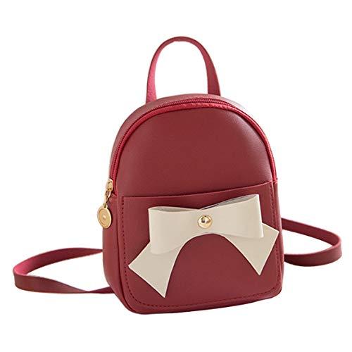 Hkiss Mini-Rucksack mit Schleife 7.1x2x5.5 inches rot -
