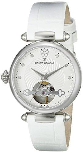 Claude Bernard Women's 85022 3 APN Dress Code Analog Display Swiss Automatic White Watch