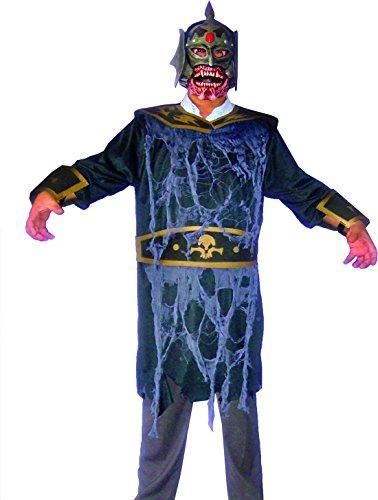 erdbeer-clown - Herren Karnevals-Kostüm Set Zombie Krieger, One Size, Mehrfarbig