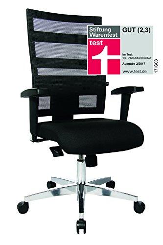 Topstar X-Pander Schreibtischstuhl Bürodrehstuhl, inkl. höhenverstellbaren Armlehnen, schwarz