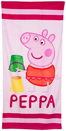 Kinder Peppa Pig BADETUCH Sommer Schwimmen Strand Badetuch George Mädchen Jungen Kinder, Pink, 10610#PP09009#SANDCASTLE (Peppa Badeanzüge Für Mädchen)