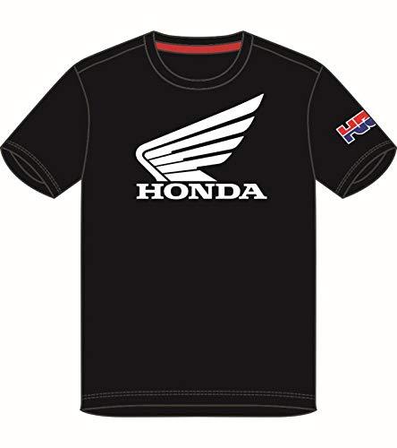 HONDA HRC Moto GP Team Wings Nero Maglietta Ufficiale 2018