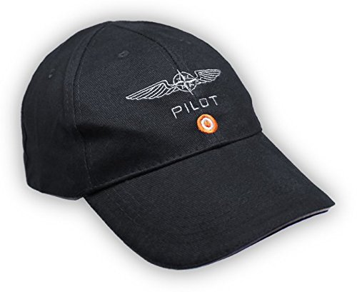 PILOT CAPS FOR AVIATION BAUMWOLLE (Schwarz)