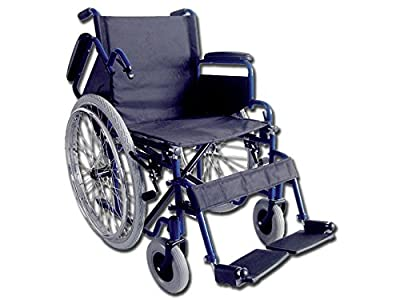 GIMA - OXFORD wheelchair, black seat, folding day wheel chair