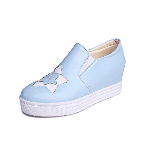Adee Damen schlupfslip Aufnäher Polyurethan Wohnungen Schuhe Blau