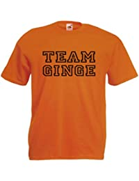 Team Ginge Funny Ginger Hair Slogan Adults Mens Unisex T-Shirt