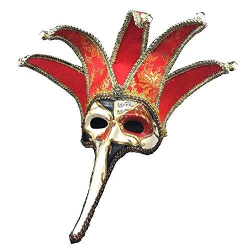 QHJ Halloween Kostüm Party Maske Weihnachten Halloween Maskerade Maske halbe Gesichtsmaske Fashion Party Maske Venedig Helloween Kostüm Party - Alte Dame Baby Kostüm Zurück