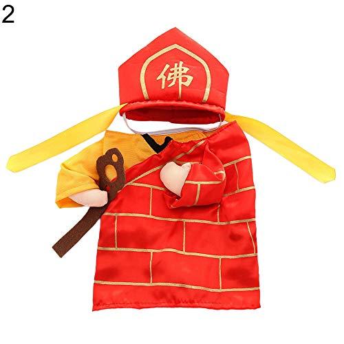(NimbleMinLki Halloween-Kostüm, für Hunde und Katzen, Mönch-Kostüm, für Partys und Cosplay, Größe M, 1, Plastik, 2#, Large)