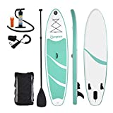 OOLOOYOO Aufblasbare SUP Surfbretter Stand up Paddle Board, mit Carry Backpack Outdoor Double Layer Verdickung Paddle Pump Kit