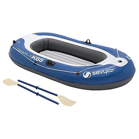 Sevylor Schlauchboot Caravelle KK65, aufblasbares Boot für 2 Personen inkl. 2 Ruder und Fußpumpe, 228 x 120 cm