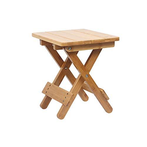 YQQ Petit Banc Chaise De Pêche Tabouret Portable Tabouret Pliable Bois Massif Mazar Tabouret Carré Extérieur Bambou