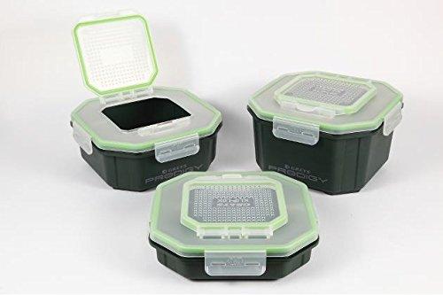 Greys Prodigy Klip-Lok Flip Top Perforated Köderbox 3,4pt / 1,96l Wurmdose Wurmbox Köderbox Baitbox Madendose Madenbox