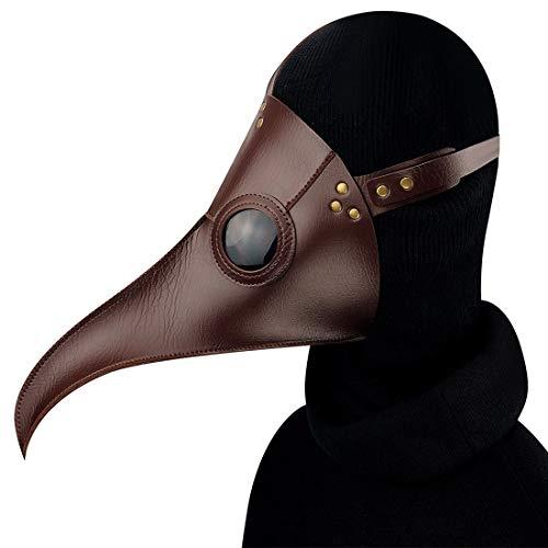 Winfridy Brown Cuspirostrisornis Lange Nase Vogel Maske Schnabel mittelalterlichen Steampunk Halloween Party Maskerade Kostüm Requisiten