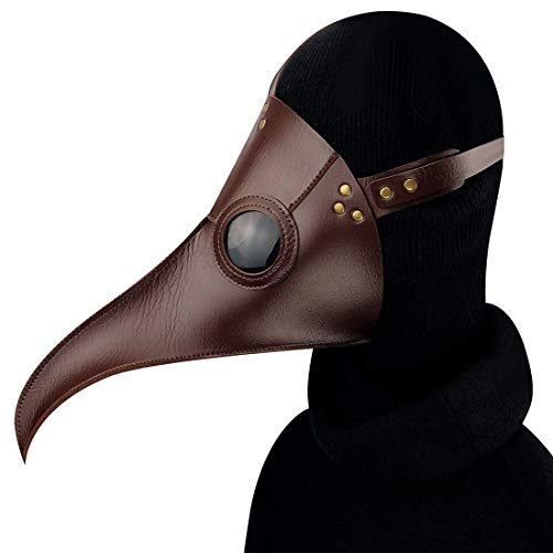 Nose Birds Mundmaske Halloween Requisiten Geschenk (Farbe : Kaffee) ()