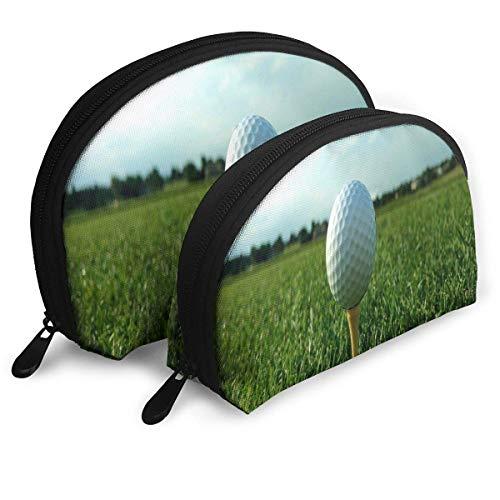 Beutel-Reißverschluss-Toilettenartikel-Organisator-Reise-Make-uphandtasche-Golfball auf T-Stück Gras-Speicher-Beuteln -