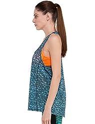Yoga Training blusa Casual Slim Skinny no chaleco almohadilla de pecho de secado rápido, color blue and white printing fsnt6510, tamaño XL