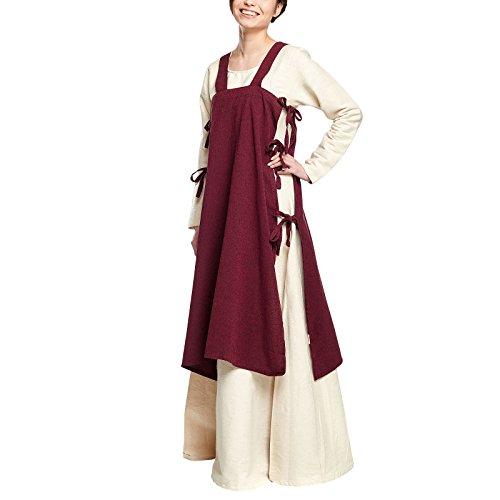Elbenwald Mittelalter Damen Überkleid Hildegard ärmellos mit seitlichen -