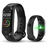 SClout M4 Bluetooth Wireless Smart Fitness Band for Boys/Men/Kids/Women | Sports Watch Compatible with Xiaomi, Oppo, Vivo Mob