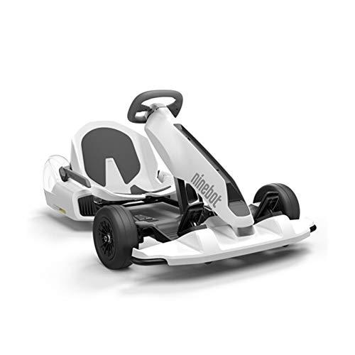 H&RB Ninebot GoKart Kit de Montaje para Segway miniPRO Transporter (Auto Equilibrio Scooter Incluido), Gran Paseo de Carreras en el Juguete del Coche para niños y Adultos,White,StandardEdition