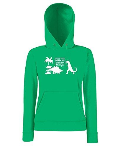 T-Shirtshock - Sweatshirt a capuche Femme FUN1113 curse your sudden betrayal brn CU 13 (2) Vert
