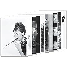 10er-Set: Postkarten A6 +++ MIX SET Nr. 1 von modern times +++ 10 große FILMSTARS in Schwarz-Weiß +++ perfekt für POSTCROSSING +++ ohne deutschen Text!