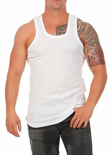 rhemd Classic in Feinripp Tank Top weiß Muskel Shirt Trägershirt Größe 9 ()