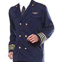 Herren Uniform Jacke Pilotenkostüm Pilot Flieger