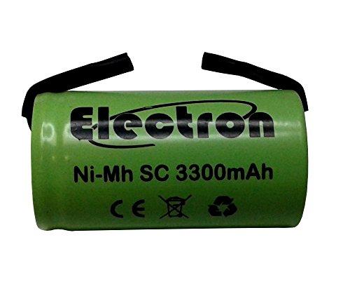 Batteria Pila NI-MH SC 3300mAh 3.3Ah 1,2V con lamelle linguette a saldare per pacchi batterie trapani torce allarmi