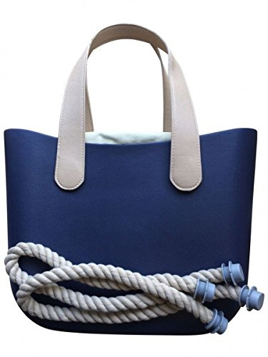 Deininger bags, Borsa tote donna Navy and Flat Navy and Flat