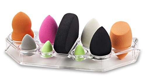 byAlegory Acrylique Maquillage Beauty Sponge Organizer & Drying House | 9 places pour toutes les marques