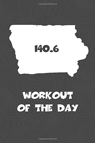 Workout of the Day: Iowa Workout of the Day Log for tracking and monitoring your training and progress towards your fitness goals. A great triathlon ... bikers  will love this way to track goals! por KwG Creates