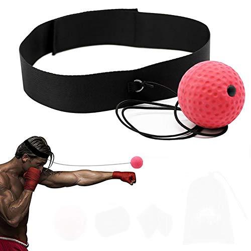 AzuNaisi Tragbare Boxen Reflex Balltraining Reaktion Kugel Hand Augen Koordination Geschwindigkeit verbessern für Fitness Sport Gesundheit (Geschwindigkeit Kugel)