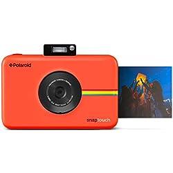 Polaroid Snap Touch - Appareil Photo Numérique à Impression Instantanée avec Écran LCD et Technologie d'Impression sans Encre Zink, Rouge