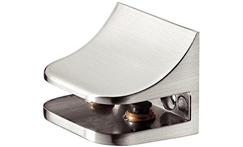 Haefele - Soporte para baldas de cristal y madera, aluminio blanco, RAL9006