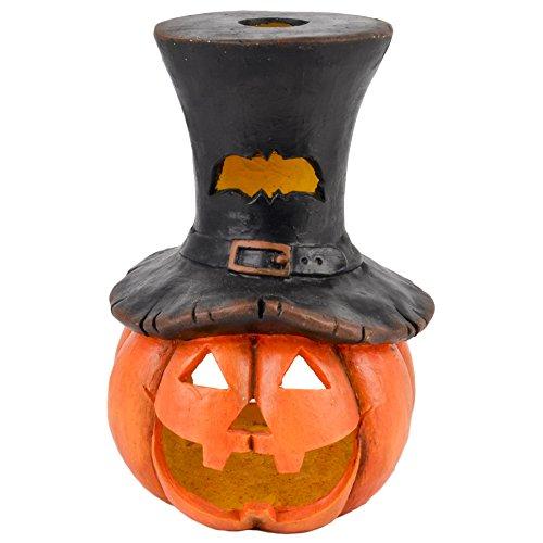 Dadeldo Living & Lifestyle Kürbis Deko Objekt Herbst Halloween Clayfibre 37x25x22cm orange (Halloween-deko-ideen Im Inneren)