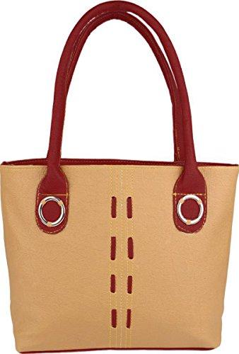 Typify Casual Shoulder Bag Women & Girl's Handbag (Tan-Maroon)