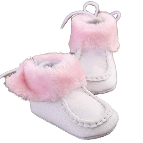 kingko® Baby Winter-täglichen Gebrauch Schneestiefel Füße warm Keeper Säuglingsschuhe Weiß