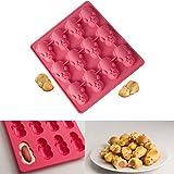 Jaminy Lebensmittelqualität Silikonform, Cute 12 Little Pig Mold, Gelee, Kekse, Schokolade, Süßigkeiten, Cupcake Backform (1)
