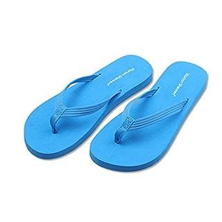 YUNGUANG Flip-Flop weiblicher Stoff mit Flachboden-Flip-Flops flachen Boden rutschfeste coole Hausschuhe lässig Mode Studenten tragen Strand Schuhe - 5 Arten (Color : Rosa, Größe : 40EU)