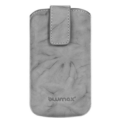 Blumax Washed Ledertasche für Apple iPhone 4 weiß grau