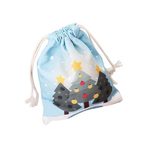 HROIJSL Tasche Bedruckte Bonbontüte Geschenk Apple Tasche Weihnachtsgeschenkbeutel Druck Süßigkeitsbeutel Kinderbekleidung Geschenk Apfelbeutel