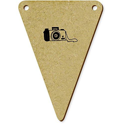 5 x 70mm 'Caméra' fanions triangles en bois (BN00009505)