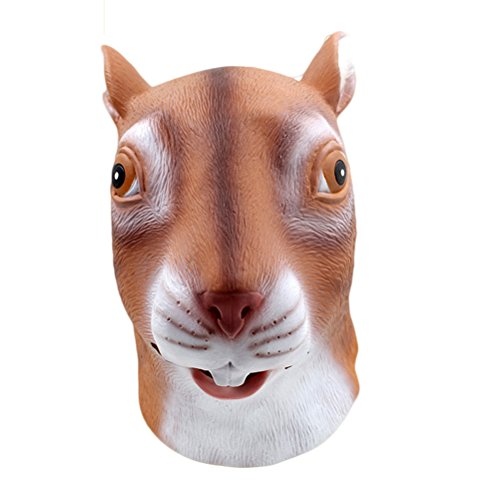 Auspicious beginning Squirrel Latex Kopf Maske, Neuheit Kostüm ()