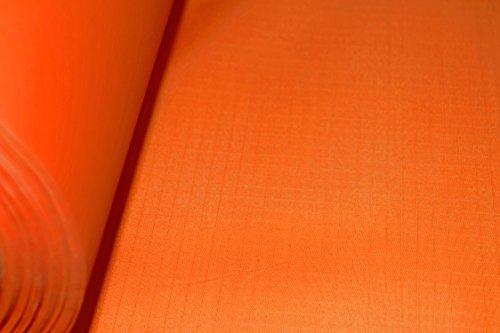 B1 Spinnaker Ripstop Deko Stoff Meterware, schwer entflammbar nach Europäischer Norm EN 13501-1, Wasser- und luftdicht, sehr leicht ca. 70 g/m², Textil Gewebe orange - Schweres Gewebe