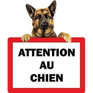 Self-Adhesive Sticker Beware of Dog German Shepherd Gate Door Sign